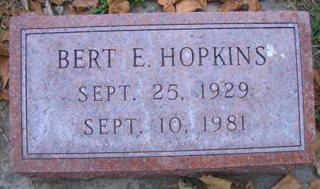 HOPKINS, BERT E - Madison County, Nebraska | BERT E HOPKINS - Nebraska Gravestone Photos