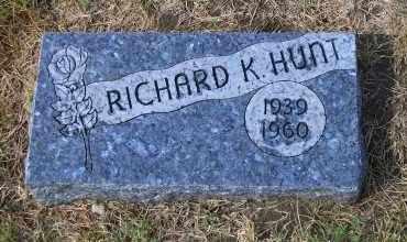 HUNT, RICHARD K. - Madison County, Nebraska   RICHARD K. HUNT - Nebraska Gravestone Photos
