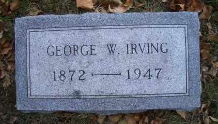 IRVING, GEORGE W - Madison County, Nebraska   GEORGE W IRVING - Nebraska Gravestone Photos