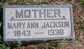 JACKSON, MARY ANN - Madison County, Nebraska | MARY ANN JACKSON - Nebraska Gravestone Photos