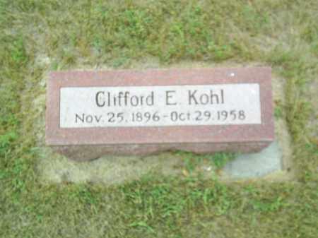KOHL, CLIFFORD E - Madison County, Nebraska | CLIFFORD E KOHL - Nebraska Gravestone Photos
