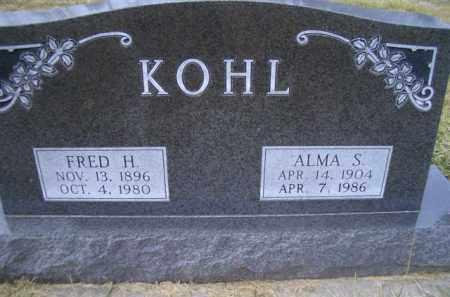 KOHL, FRED H - Madison County, Nebraska | FRED H KOHL - Nebraska Gravestone Photos