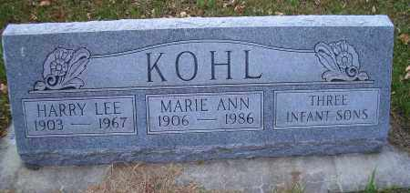 KOHL, HARRY LEE - Madison County, Nebraska | HARRY LEE KOHL - Nebraska Gravestone Photos