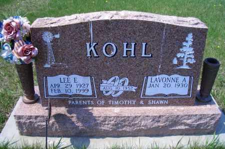 KOHL, LEE E - Madison County, Nebraska | LEE E KOHL - Nebraska Gravestone Photos