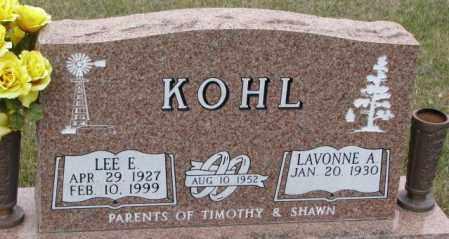 KOHL, LAVONNE A. - Madison County, Nebraska   LAVONNE A. KOHL - Nebraska Gravestone Photos
