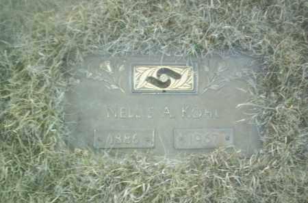 KOHL, NELLIE - Madison County, Nebraska   NELLIE KOHL - Nebraska Gravestone Photos
