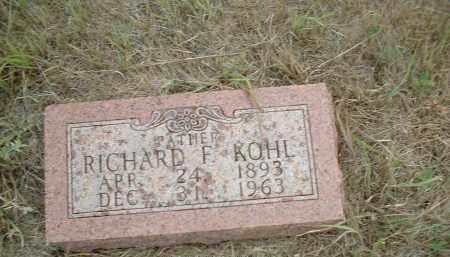 KOHL, RICHARD F - Madison County, Nebraska | RICHARD F KOHL - Nebraska Gravestone Photos