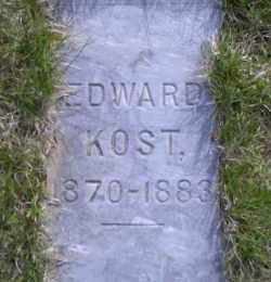 KOST, EDWARD - Madison County, Nebraska | EDWARD KOST - Nebraska Gravestone Photos