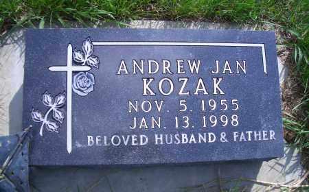 KOZAK, ANDREW JAN - Madison County, Nebraska   ANDREW JAN KOZAK - Nebraska Gravestone Photos