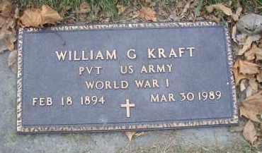KRAFT, WILLIAM G - MILITARY MARKER - Madison County, Nebraska | WILLIAM G - MILITARY MARKER KRAFT - Nebraska Gravestone Photos
