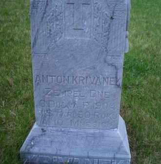 KRIVANEK, ANTONIN J. - Madison County, Nebraska | ANTONIN J. KRIVANEK - Nebraska Gravestone Photos