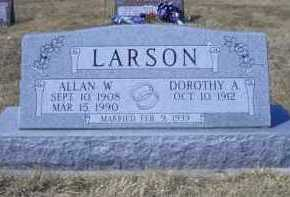 LARSON, ALLAN W - Madison County, Nebraska | ALLAN W LARSON - Nebraska Gravestone Photos