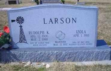 LARSON, IZOLA - Madison County, Nebraska | IZOLA LARSON - Nebraska Gravestone Photos