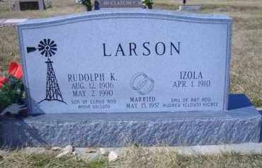LARSON, RUDOLPH K - Madison County, Nebraska   RUDOLPH K LARSON - Nebraska Gravestone Photos