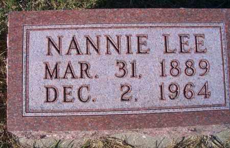 LEE, NANNIE - Madison County, Nebraska | NANNIE LEE - Nebraska Gravestone Photos