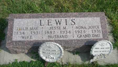 ANSON LEWIS, LIFFIE MAY - Madison County, Nebraska | LIFFIE MAY ANSON LEWIS - Nebraska Gravestone Photos