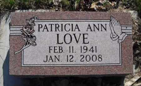LOVE, PATRICIA ANN - Madison County, Nebraska   PATRICIA ANN LOVE - Nebraska Gravestone Photos