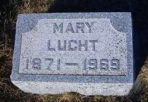 LUCHT, MARY - Madison County, Nebraska   MARY LUCHT - Nebraska Gravestone Photos