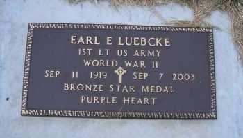 LUEBCKE, EARL E (MILITARY) - Madison County, Nebraska | EARL E (MILITARY) LUEBCKE - Nebraska Gravestone Photos