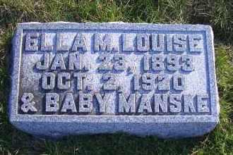 MANSKE, ELLA M. LOUISE - Madison County, Nebraska | ELLA M. LOUISE MANSKE - Nebraska Gravestone Photos