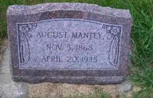 MANTEY, AUGUST - Madison County, Nebraska | AUGUST MANTEY - Nebraska Gravestone Photos