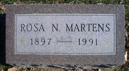 MARTENS, ROSA N - Madison County, Nebraska | ROSA N MARTENS - Nebraska Gravestone Photos