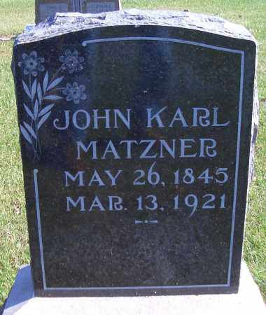 MATZEN, JOHN KARL - Madison County, Nebraska | JOHN KARL MATZEN - Nebraska Gravestone Photos