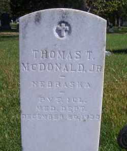 MCDONALD, THOMAS T JR. - Madison County, Nebraska   THOMAS T JR. MCDONALD - Nebraska Gravestone Photos