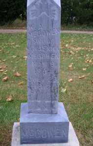 MCGOWEN, W A - Madison County, Nebraska   W A MCGOWEN - Nebraska Gravestone Photos