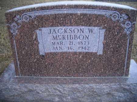 MCKIBBON, JACKSON W. - Madison County, Nebraska | JACKSON W. MCKIBBON - Nebraska Gravestone Photos