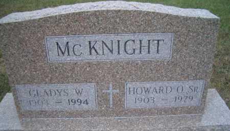 MCKNIGHT, HOWARD O SR. - Madison County, Nebraska | HOWARD O SR. MCKNIGHT - Nebraska Gravestone Photos