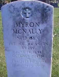 MCNALLY, MYRON - Madison County, Nebraska | MYRON MCNALLY - Nebraska Gravestone Photos