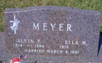 MEYER, ALVIN F - Madison County, Nebraska | ALVIN F MEYER - Nebraska Gravestone Photos