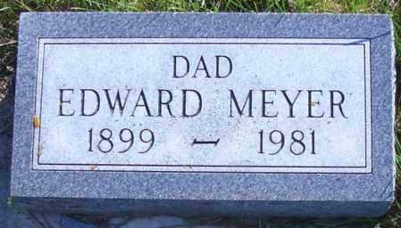MEYER, EDWARD - Madison County, Nebraska | EDWARD MEYER - Nebraska Gravestone Photos