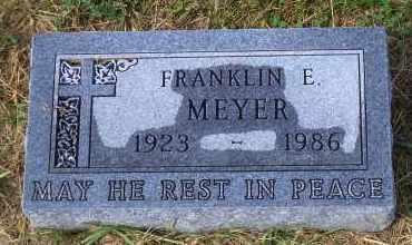 MEYER, FRANKLIN E. - Madison County, Nebraska | FRANKLIN E. MEYER - Nebraska Gravestone Photos