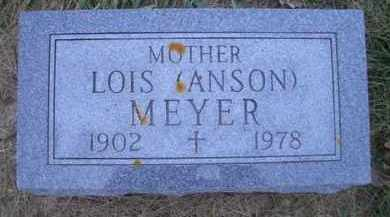 ANSON MEYER, LOIS T - Madison County, Nebraska   LOIS T ANSON MEYER - Nebraska Gravestone Photos