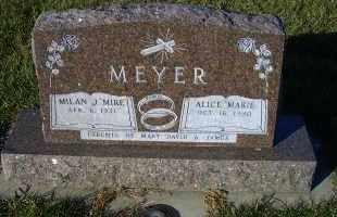 "MEYER, MILAN J. ""MIKE"" - Madison County, Nebraska | MILAN J. ""MIKE"" MEYER - Nebraska Gravestone Photos"