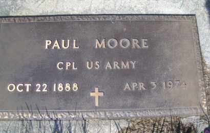 MOORE, PAUL (MILITARY) - Madison County, Nebraska | PAUL (MILITARY) MOORE - Nebraska Gravestone Photos