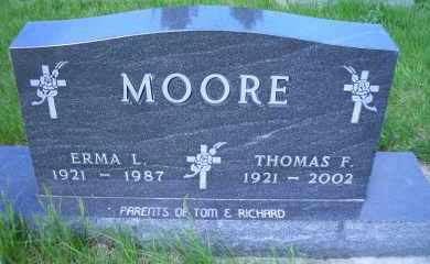MOORE, ERMA L. - Madison County, Nebraska | ERMA L. MOORE - Nebraska Gravestone Photos