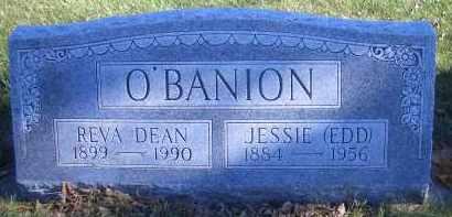 O'BANION, JESSIE (EDD) - Madison County, Nebraska | JESSIE (EDD) O'BANION - Nebraska Gravestone Photos