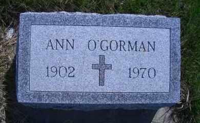 O'GORMAN, ANN - Madison County, Nebraska   ANN O'GORMAN - Nebraska Gravestone Photos