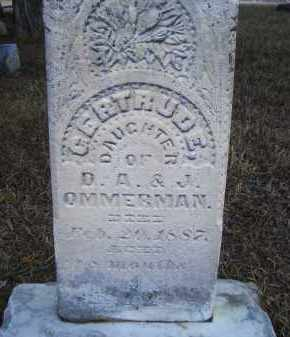 OMMERMAN, GERTRUDE (2ND MKR) - Madison County, Nebraska | GERTRUDE (2ND MKR) OMMERMAN - Nebraska Gravestone Photos