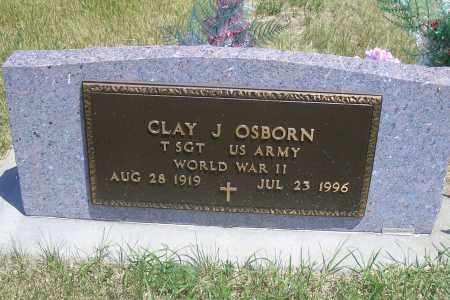 OSBORN, CLAY J (MILITARY) - Madison County, Nebraska   CLAY J (MILITARY) OSBORN - Nebraska Gravestone Photos