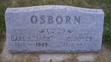 "OSBORN, CARL Z ""JACK"" - Madison County, Nebraska   CARL Z ""JACK"" OSBORN - Nebraska Gravestone Photos"