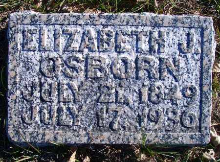 OSBORN, ELIZABETH J - Madison County, Nebraska | ELIZABETH J OSBORN - Nebraska Gravestone Photos