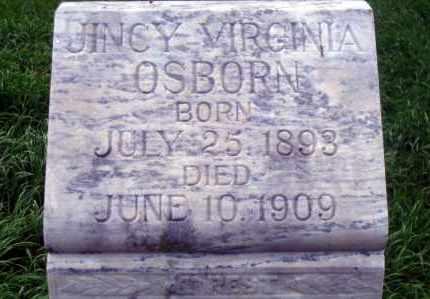 OSBORN, JINCY VIRGINIA - Madison County, Nebraska | JINCY VIRGINIA OSBORN - Nebraska Gravestone Photos