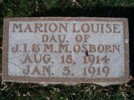 OSBORN, MARION LOUISE - Madison County, Nebraska   MARION LOUISE OSBORN - Nebraska Gravestone Photos