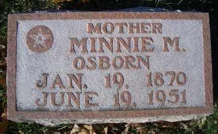 OSBORN, MINNIE M - Madison County, Nebraska | MINNIE M OSBORN - Nebraska Gravestone Photos