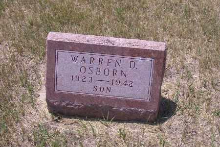 OSBORN, WARREN D. - Madison County, Nebraska | WARREN D. OSBORN - Nebraska Gravestone Photos