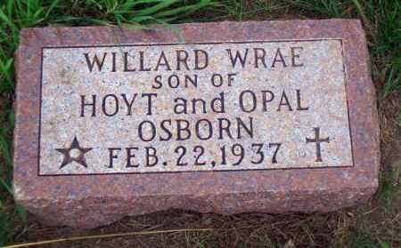OSBORN, WILLARD WRAE - Madison County, Nebraska | WILLARD WRAE OSBORN - Nebraska Gravestone Photos